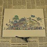 panggedeshoop Miyazaki Toshio Set Dibujos Animados Anime Animación Cartel De Película Bar Dibujos Animados Decoración De La Habitación De Los Niños Pintura 40X50Cm -Sz3285