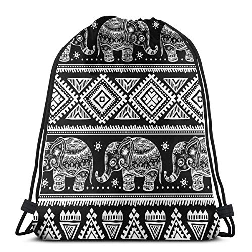 Lawenp Ethnic Crane Illustrations Vector Unisex Outdoor Rucksack Shoulder Bag Sport Drawstring Backpack Bag
