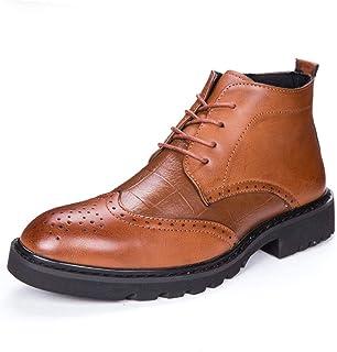 moda Easy Go Shopping Moda para Hombre botas Martin Casual Individualidad Individualidad Individualidad Costura Conveniente Cremallera Tallada Brogue High Top bota (Color   Marrón, tamao   40 EU)  marca
