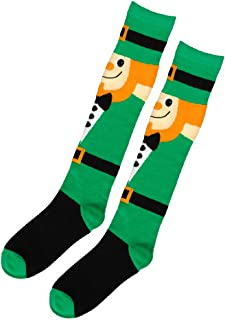 amscan St. Patrick's Day Pot of Gold Knee Socks, Adult I 6 Ct
