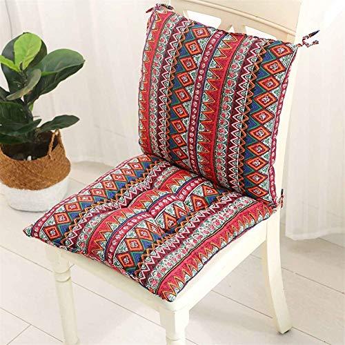 Lanrui 1 juego de almohadillas cuadradas para silla más gruesas para comedor, patio, oficina, interior, exterior, jardín, sofá, nalgas, 40 x 40 cm a (color burdeos).