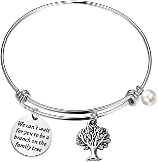 FEELMEM Family Tree Jewelry Stepdaughter Gifts Future Daughter in Law Gift We Can't Wait for You to Be A Branch On The Fam...