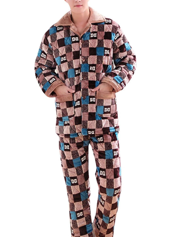 (ネルロッソ) NERLosso パジャマ メンズ 長袖 暖かい 温かい もこもこ 厚手 上下セット 寝巻き ルームウェア 部屋着 cms24230