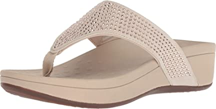 Vionic Women's Naples Platform Sandal - Toe Post Sandals with Concealed Arch Support
