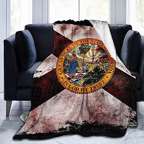 Bklzzjc Weiche Fleecedecke für Couch, Bett, Reise, leichte Flauschige Flanell Decke für alle Jahreszeiten Florida State Flag 60 'X 50'