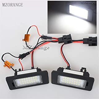 Clidr White 24-SMD LED Number License Plate Light for SKODA Octavia 3 / Superb B6 Combi/Rapid/Yeti/Fabia 2 Pieces