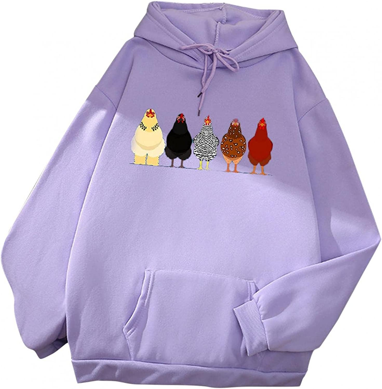 Toeava Sweatshirts for Women,Women's Cute Animal Hoodie Pullover Teen Girls Drawstring Hooded Sweatshirt with Pocket