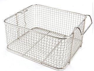 Cesta de freidora de alambre profundo, cestas de acero inoxidable para freír con mango de