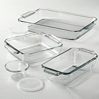 Glass Bakeware Set 7 Piece For Home Kitchen