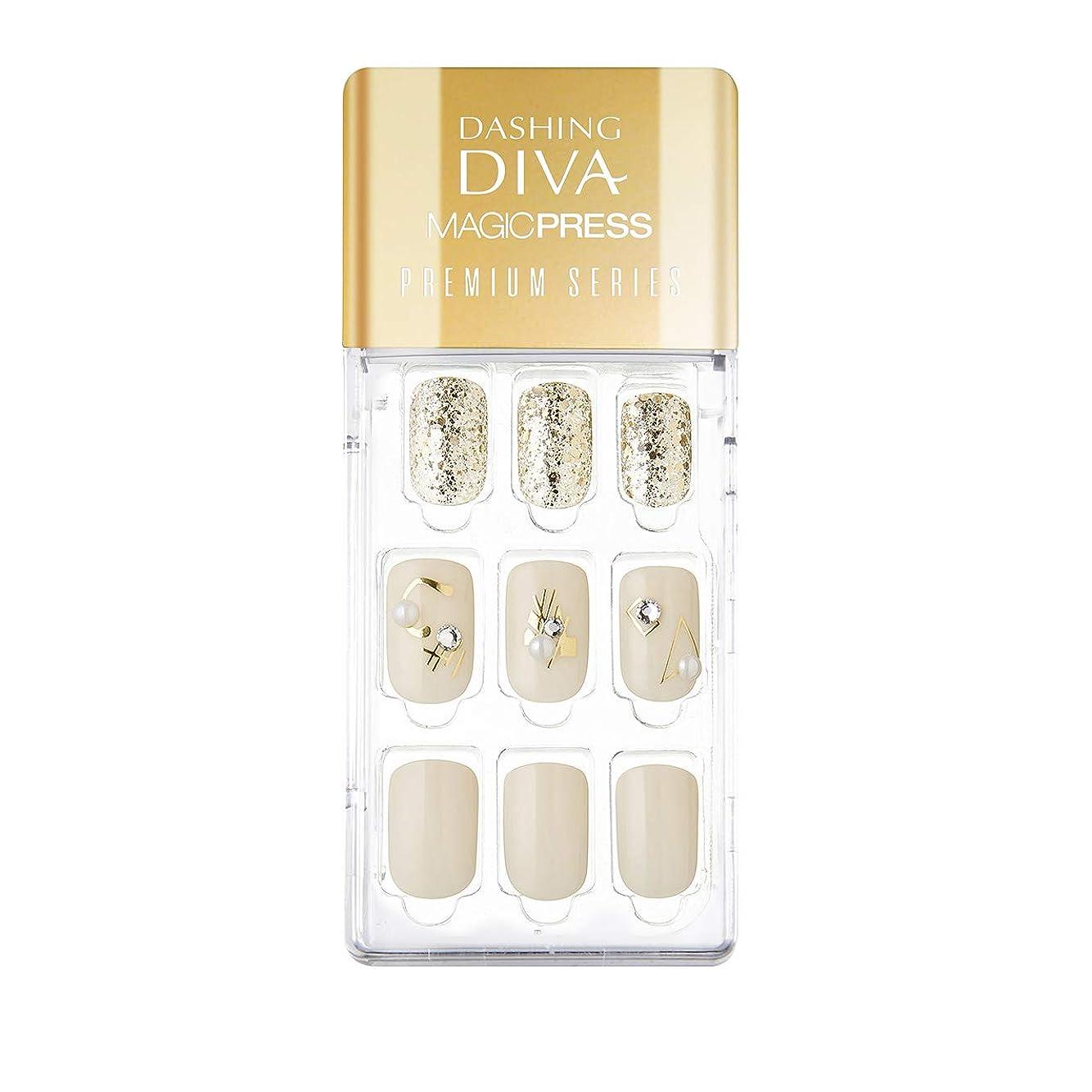 慣習信号再びダッシングディバ マジックプレス DASHING DIVA MagicPress MDR_325PR-DURY+ オリジナルジェル ネイルチップ Cream Pottery