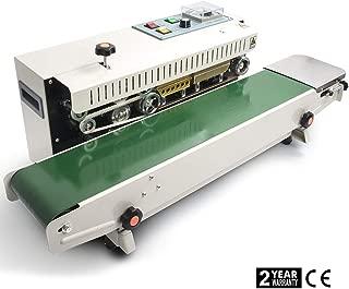 Masterandy Continuous Sealing Machine Automatic Horizontal Continuous Band Sealer FR900 Plastic Bag Sealer 110V