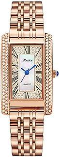 Ladies Analog Quartz Classic Collection Wristwatch Diamond Watch Roman Numerals with Stainless Steel Bracelet (Color : B)