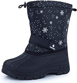 CIOR Fantiny Snow Boots Winter Outdoor Waterproof with Fur Lined for Girls & Boys (Toddler/Little Kid/Big Kid)