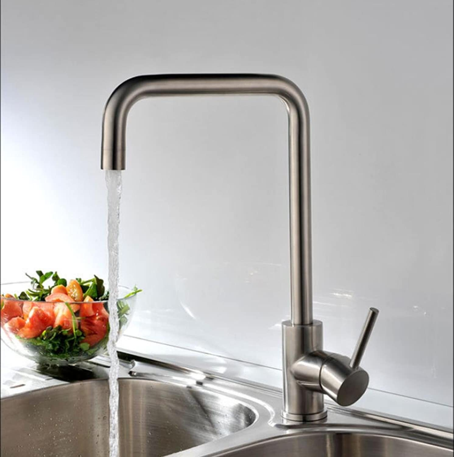 ZHIYUAN Fashion high-end ware Centerset Antique Hot and cold Single hole Stainless steel Faucets personality Kitchen sink Mixing faucets