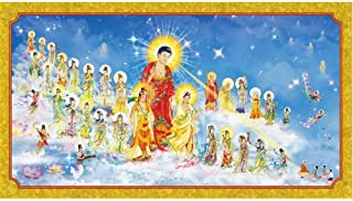 Mural Wallpaper Western Sansheng's Image of Buddha Statues, Amitabha, Bliss, World Wall, Temple
