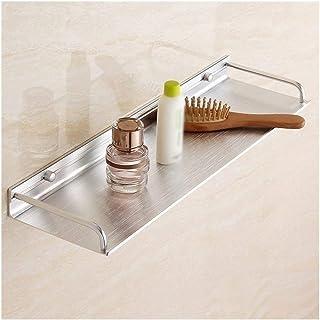 Étagère d'angle Douche Salle de bain d'angle étagère murale 1 Niveau Drilling bain Rangement Organisateur Rectangle Cuisin...