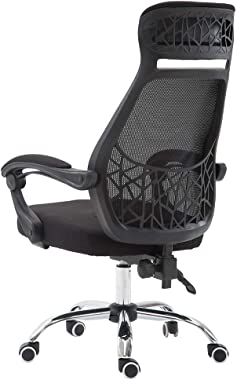 Ergonomic Office Chair Desk Chair Gaming Chair, Adjustable Breathable Mesh Cushion Racing Chair with High Back, Swivel Executive Computer Chair Headrest Armrest Lumbar Support (Ship from USA) (B)