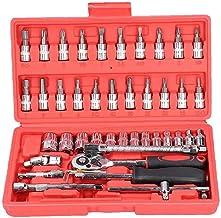 PJKKawesome Gniazdo grzechotka zestaw narzędzi do naprawy samochodu klucz zapadkowy zestaw śrubokręt zestaw narzędzi kombi...