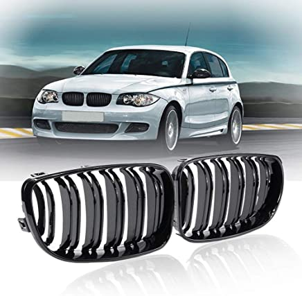 Topker Front Shiny Gloss Black Kidney Grille Grill for BMW E87 E81 1-Series 2004-2007