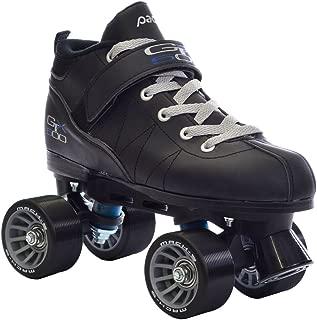 Pacer Black Mach-5 GTX500 Quad Speed Roller Skates w/ 2 Pair of Laces (Gray & Black)