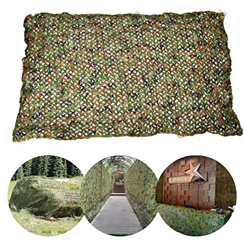 WWJQ 210D Camouflage Hunting Shooting Net, Bulk Roll Military/Hide/Army/Blinds/Party/Decorations Camo Netting, 2x3m 3x4m 3x5m Custom