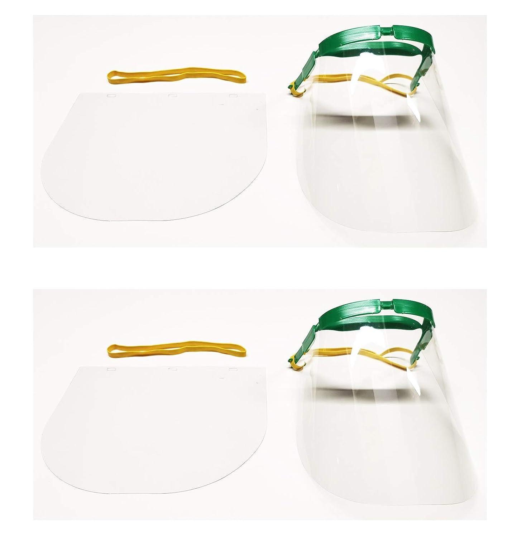 Two Bubbles - Pantalla Protección Facial Transparente, Pantalla Protectora Cara, Protector Facial (2 Pcs)