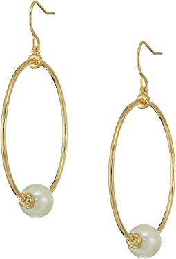 LAUREN Ralph Lauren Pearl Update Round Station Earrings