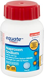 Naproxen Sodium Caplets 220mg 225ct, by Equate, Compare to Aleve