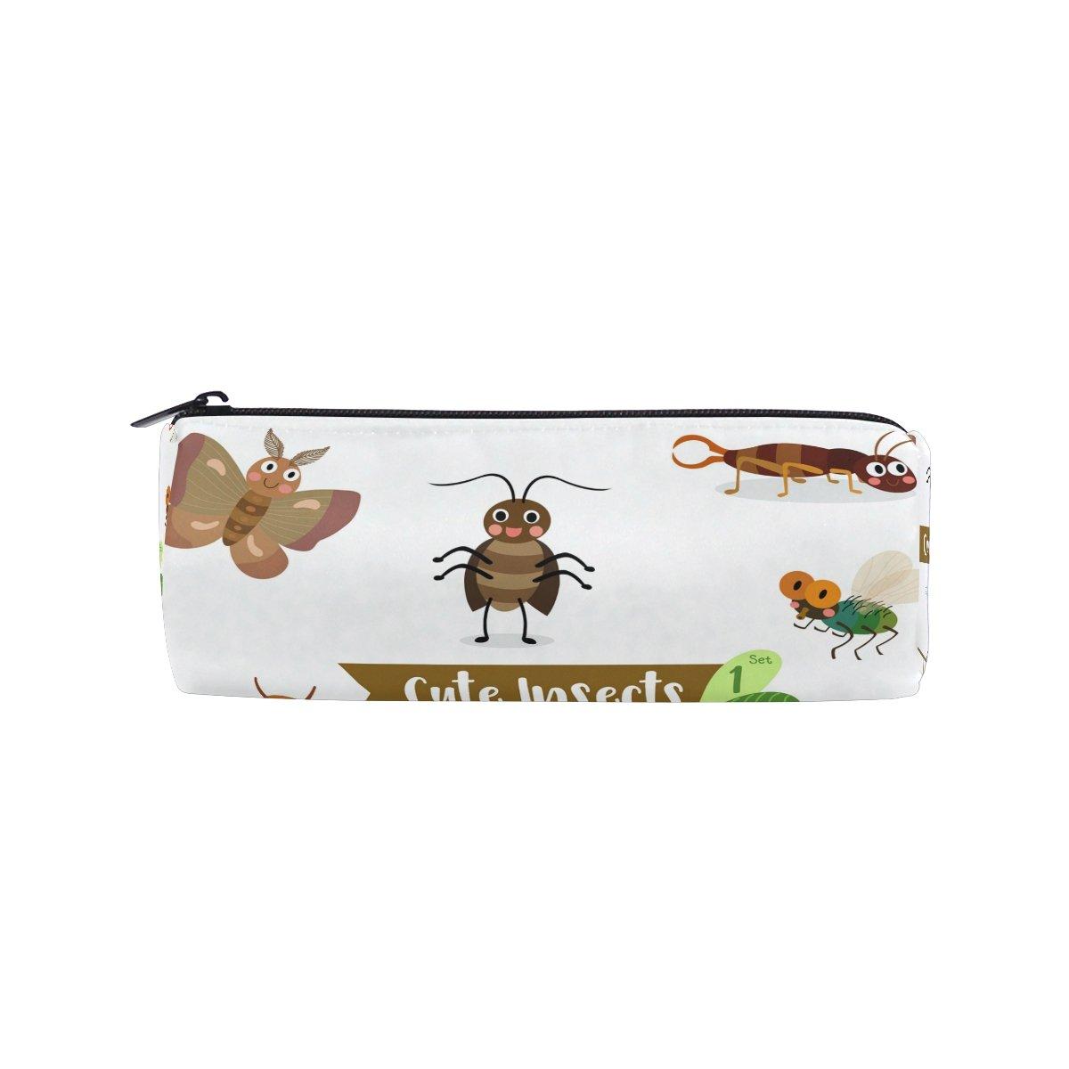 Ahomy Estuches de lápices insectos mosca termita polilla monopatín cremallera bolsa de lápiz para adolescentes niñas y niños, bolsa de viaje de maquillaje para mujeres: Amazon.es: Oficina y papelería