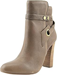 Design Lab Womens Dylan Faux Suede Almond Toe Ankle Boots