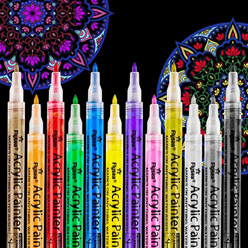 Rotuladores de pintura acrílica RATEL 12 colores Prima Impe