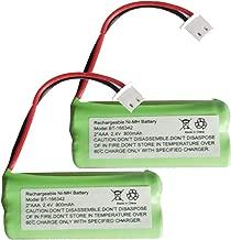 Iusun 2PC 2.4V 800MAH BT166342 Battery for VTech E30021CL CL81211 Cordless Handsets Long Running Time (green)