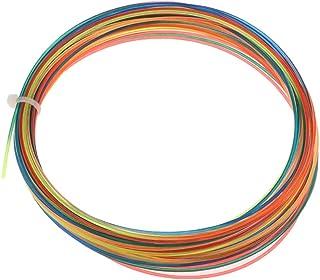 NC 12 Meter High Elastic Tennis Racket String Rainbow, Also for Squash /