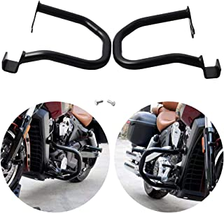 GDAUTO Highway Bar Motorcycle Engine Guard Crash Bar Kit (Black) for Indian Scout 2015-2016 Scout Sixty 2016, Replace Part Number: 2881756-156