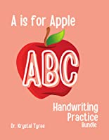 A is for Apple ABC Handwriting Practice Bundle - Upper and Lower Case Letters
