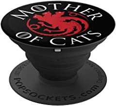 Mother Of Cats - Cat Mom Fur Mama Cat Lovers Gift - PopSockets Grip and Stand for Phones and Tablets