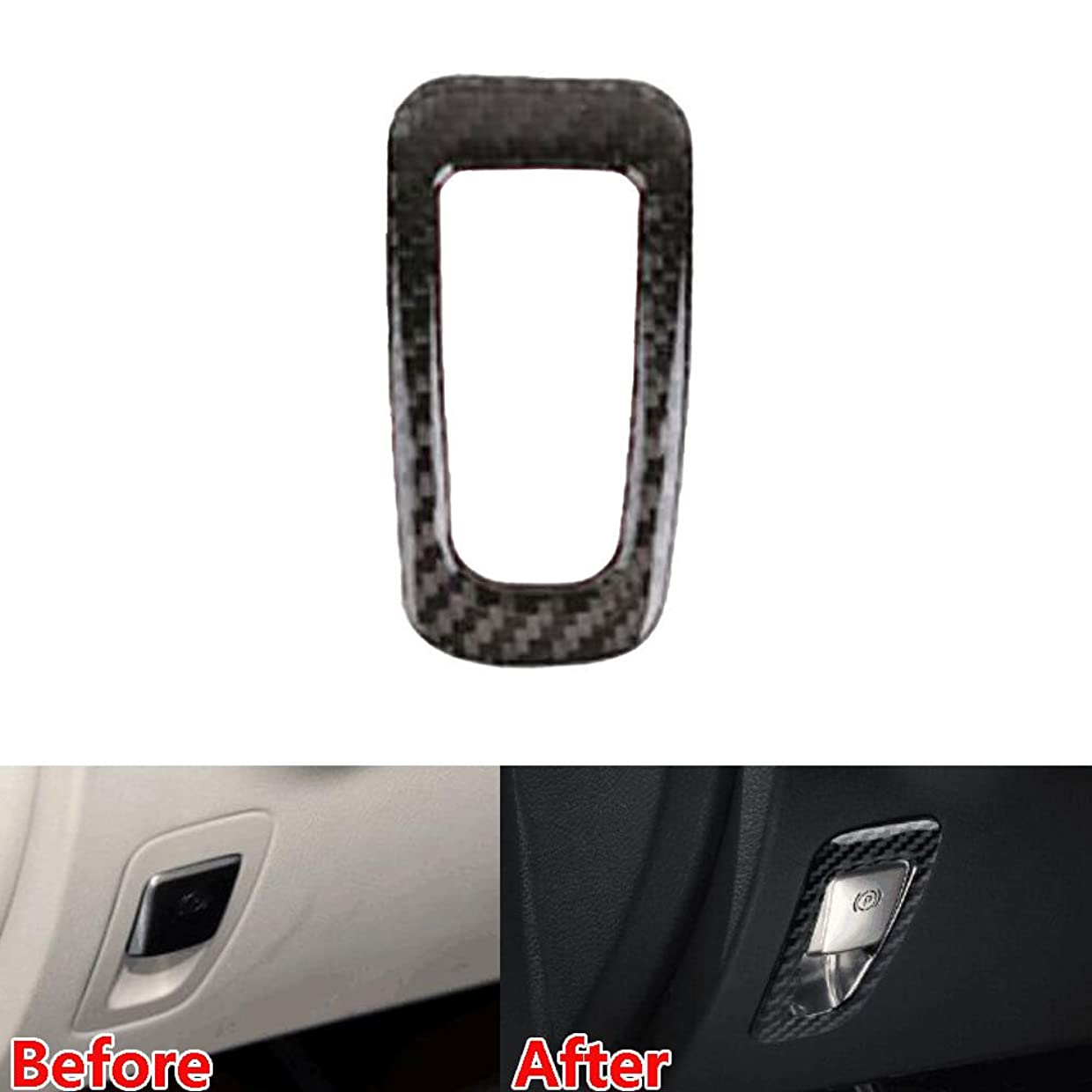 キャプテンブライ債務シャワーJicorzo - Car Electronic Handbrake Frame Cover Trim Decor Interior Car-Styling Sticker For Mercedes Benz GLA Class 2016 17 Car Accessories