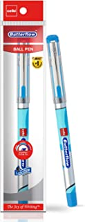 Cello Butterflow Ball Pen Set (Pack of 10 pens - Blue) | Ball pens with premium look for comfortable & smooth writing | Gi...