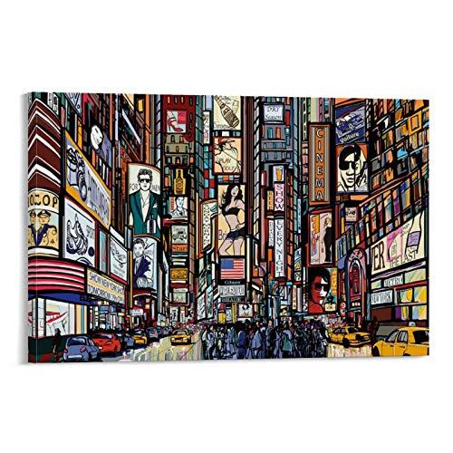 JTYK New York Comic Style Tapete, Poster, dekoratives Gemälde, Leinwand, Wandkunst, Wohnzimmer, Poster, Schlafzimmer, Gemälde, 60 x 90 cm