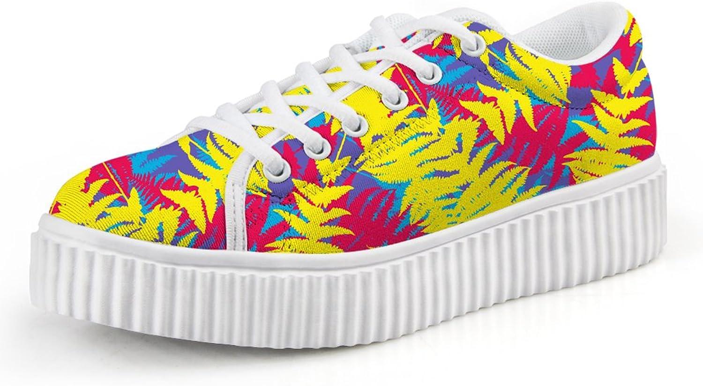 Chaqlin Fashion Pattern Women's Fashion Sneakers Lightweight Walking shoes US7