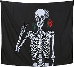Tapijt Opknoping Skeleton Patroon Muur Mat Tapijt voor Slaapkamer Slaapzaal Home Achtergrond Decor Slaapkamer Slaapzaal Ho...