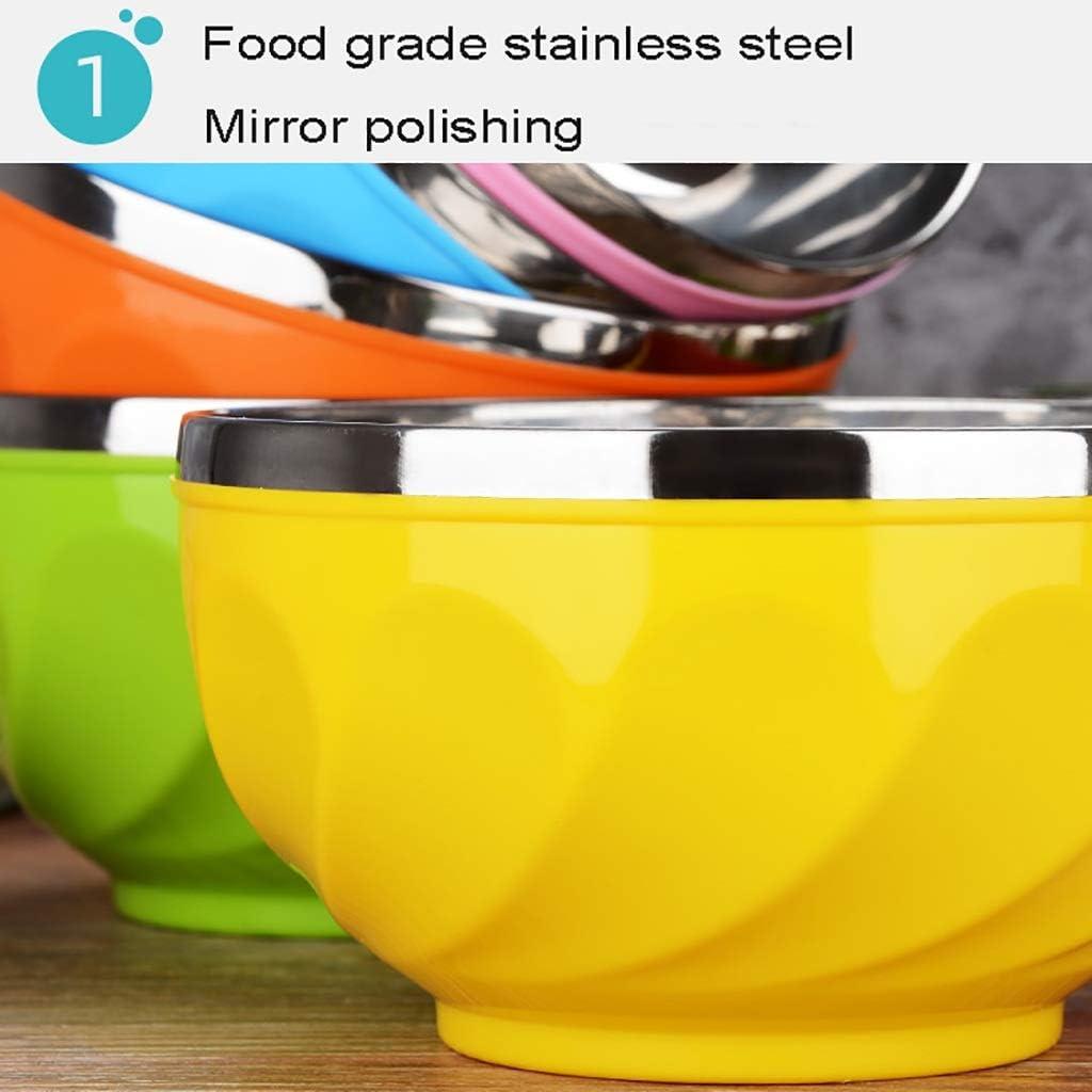 Ice Cream Bowl 6 Farben, 6 St/ück Metall Isoliert Sch/üssel Hochtemperaturbest/ändige und Verbr/ühschutz Au/ßenschicht Gr/ö/ße : 12.5cm WSC Double-Layer-Edelstahl-Sch/üssel Suppensch/üssel