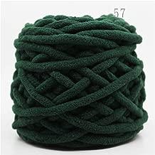 Colorful Dye bufanda tejida a mano hilo para tejer a mano suave lana de algodón de leche gruesa lana manta, 57, the size, 1