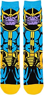 Super Hero Marvel Comics Thanos Character 360 Crew Socks