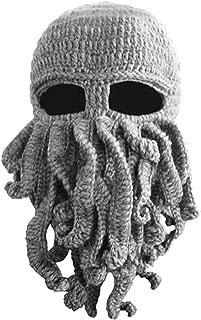 Tentacle Octopus Cthulhu Knit Beanie Hat Caps Beard Halloween Costume Cosplay Mask