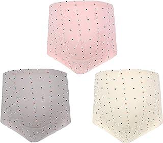 ゴシレ Gosear 3枚の通気性の親密な調節可能な綿の高いウエスト腹部の妊婦妊娠中のパンツショーツブリーフパンティセットサイズ XL
