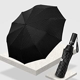 Household Umbrella Business Folding Umbrella Car Car Storage Umbrella Double Reinforced Windproof Umbrella Two Styles Available LJJOZ (Color : B)
