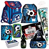 Fussball Football 9 tl Schulranzen RANZEN Schultüte Tornister Set mit Sticker von Kids4shop Tasche Fußball