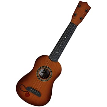 Shreeji Retails 4-String Acoustic Guitar Learning Toy (Brown, 18-inch)