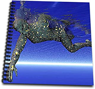 3dRose db_843_2 Swimming Robot-Memory Book, 12 by 12-Inch